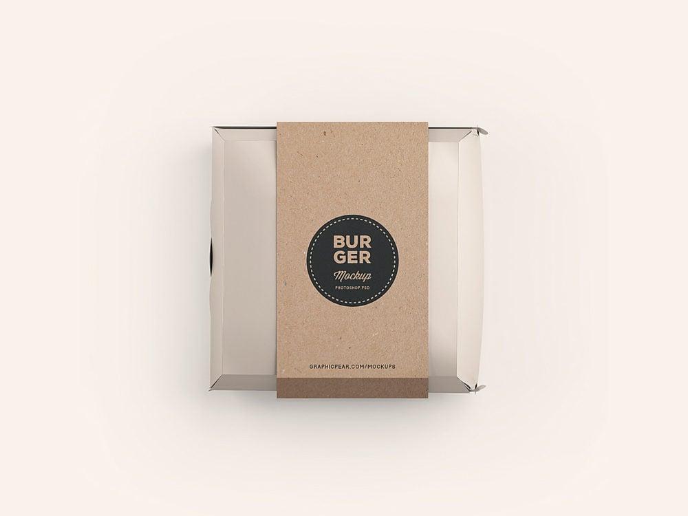 Burger Box Package Mockup Free