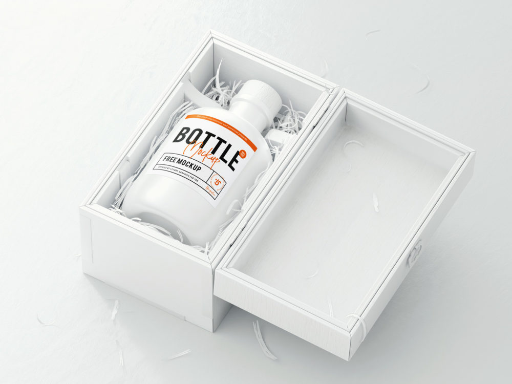 Bottle Logo Free Mockup