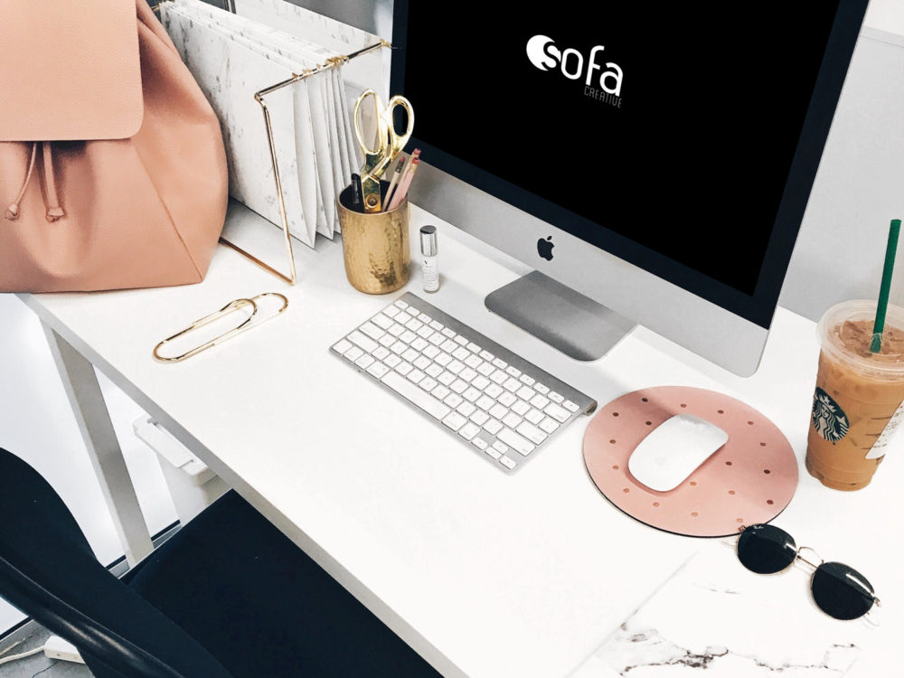 Girl Desk Workspace iMac Mockup