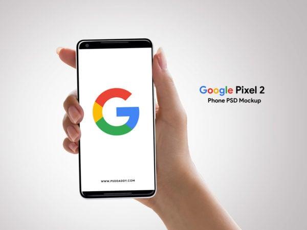 Google Pixel 2 Mockup Phone PSD