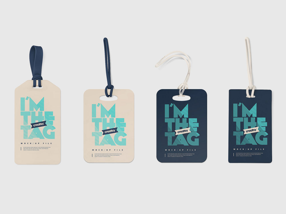 Luggage Tag Mockups