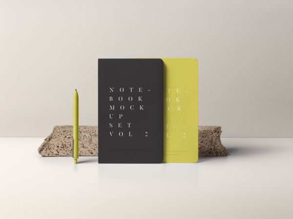 Notebook Mockup Set PSD