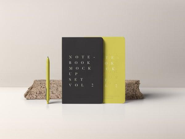 Notebook Mockup Set PSD