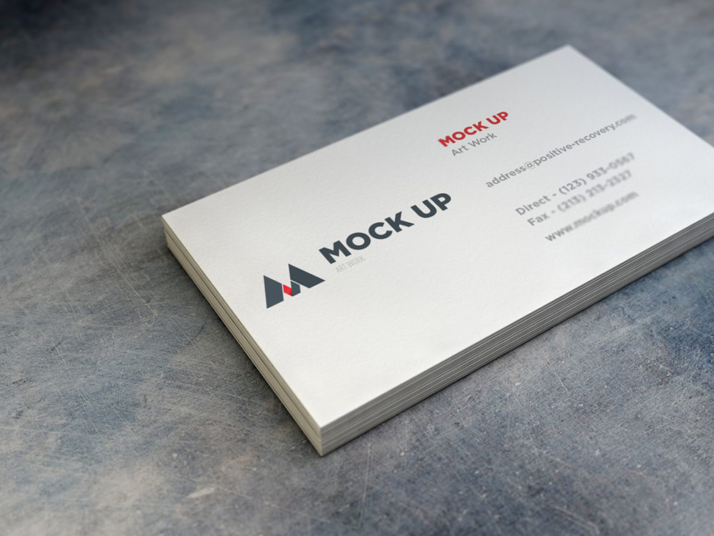 Realistic Business Card Free Mockup