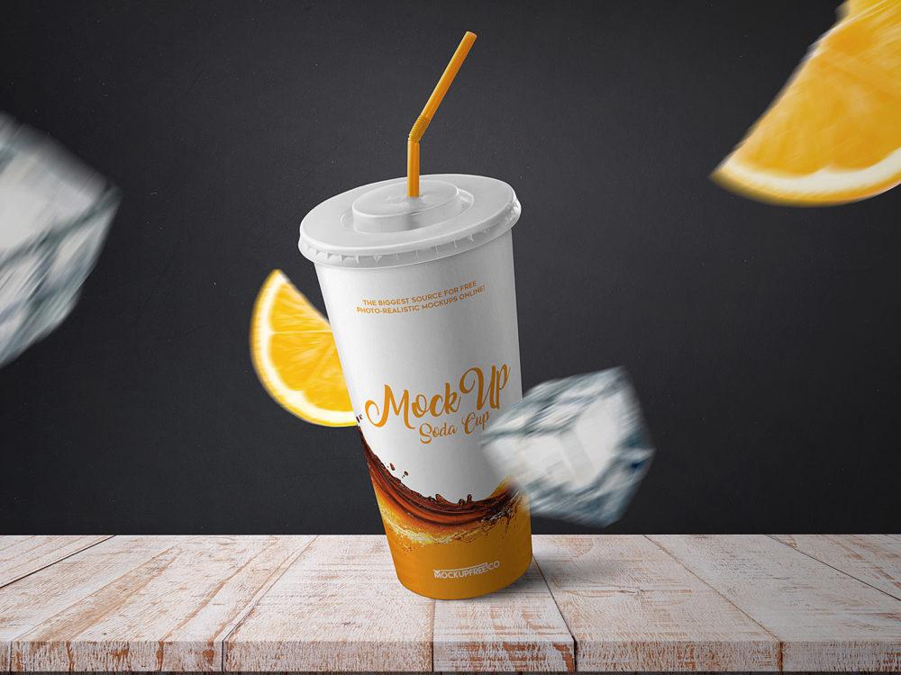 Soda Cup Free Mockup