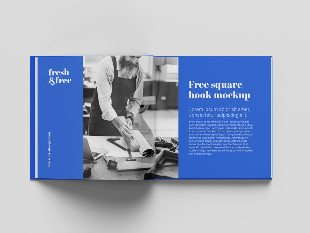Square Book Free Mockup
