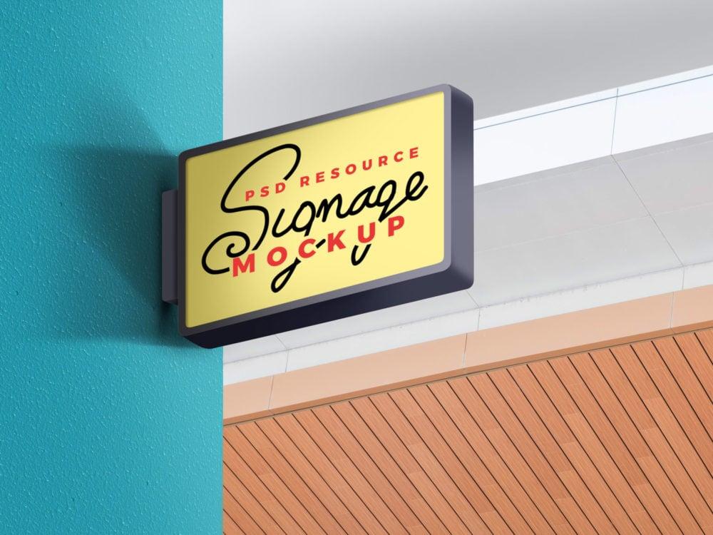 Store Wall Signage Mockup