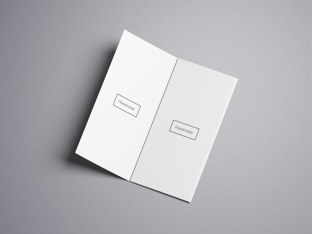 Tri-Fold Brochure Mockup Free