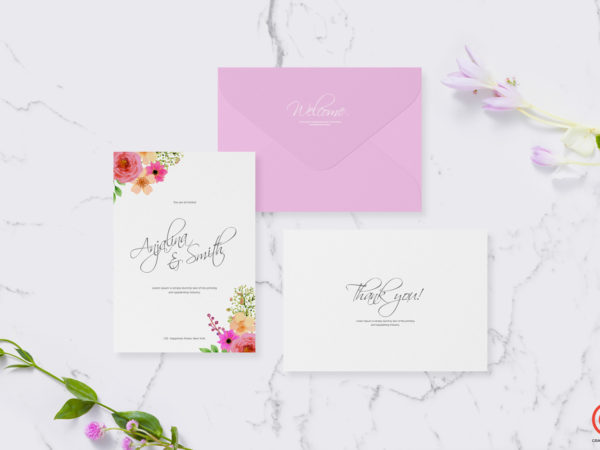Wedding and Greetings Card Mockup