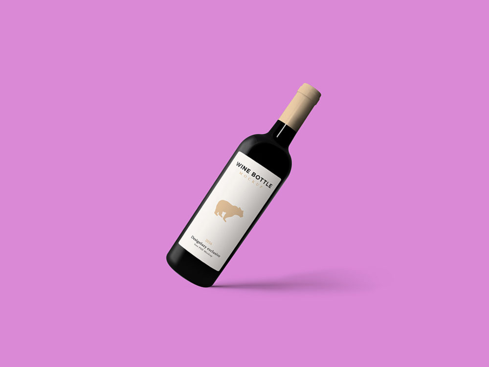 Wine Label Bottle Mockup Free