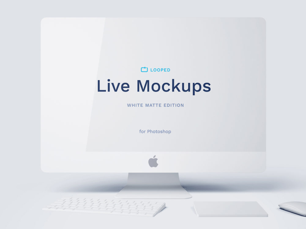 White Matte Apple Devices Mockup