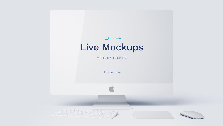 8 White Matte Apple Devices Mockups | Free Mockup