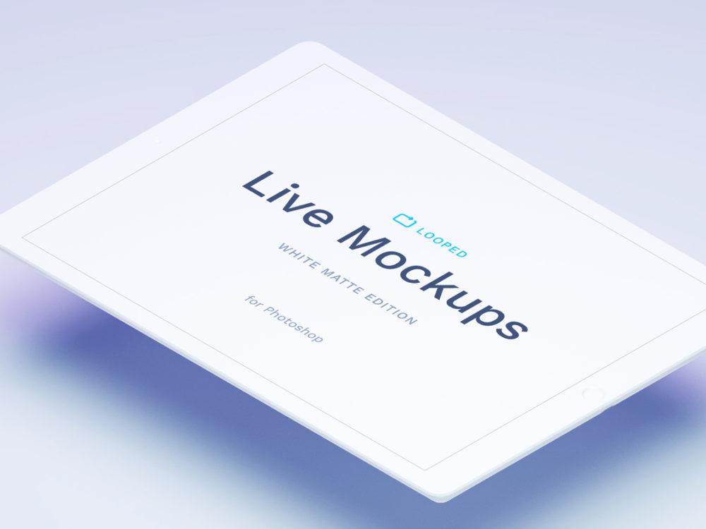 White Matte Apple Devices Mockup
