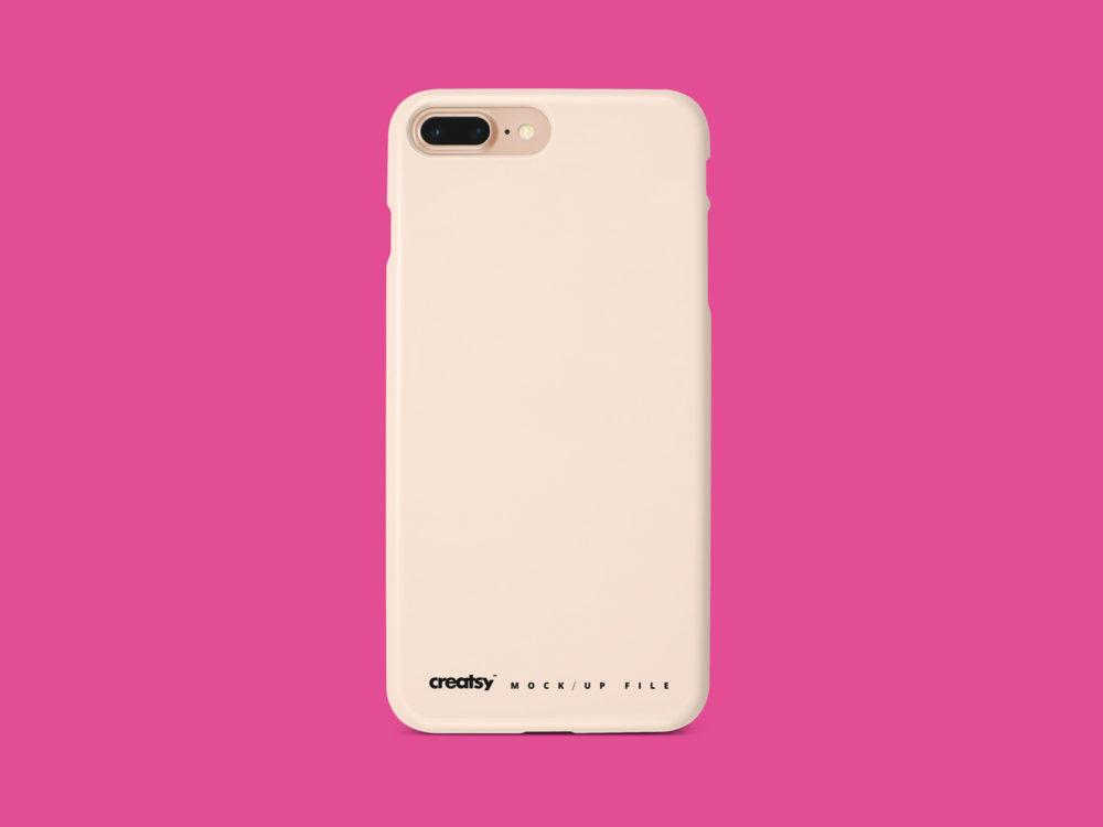 iPhone 8 plus Plastic Case Mockup