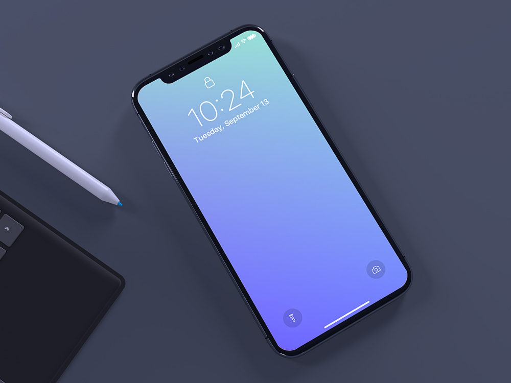 iPhone X Top View