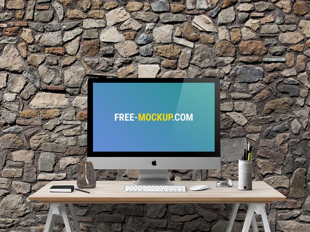 Apple iMac 27-inch Mockup Free