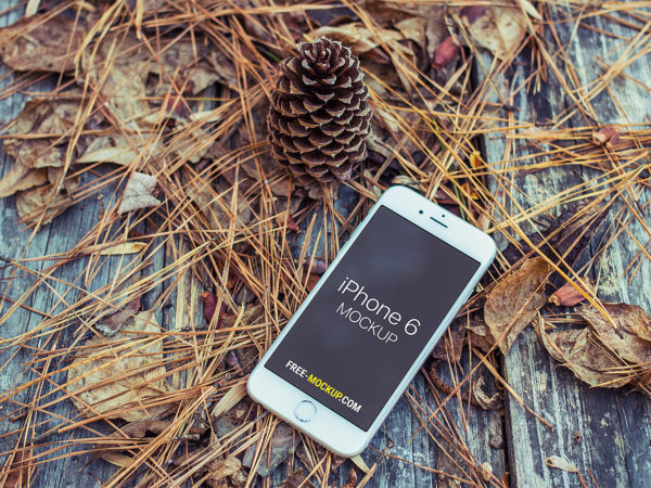 Autumn iPhone 6 Mockup Free