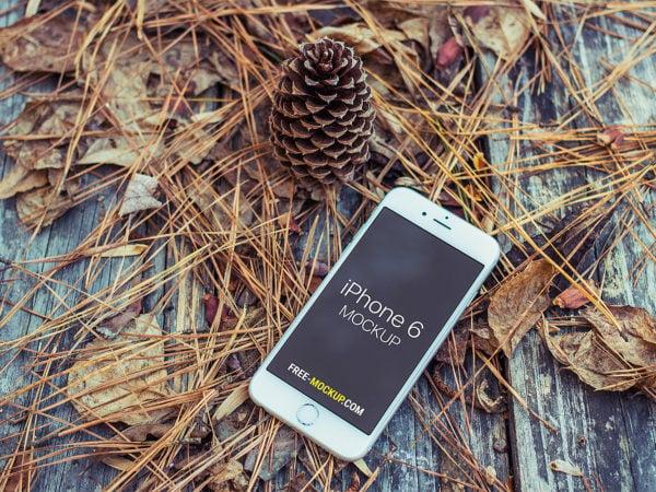 Autumn iPhone 6 Mockup Free