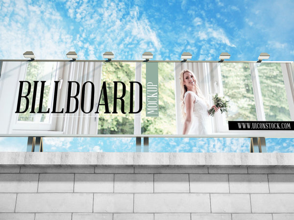 Billboard Mockup Free for Outdoor Advertisement