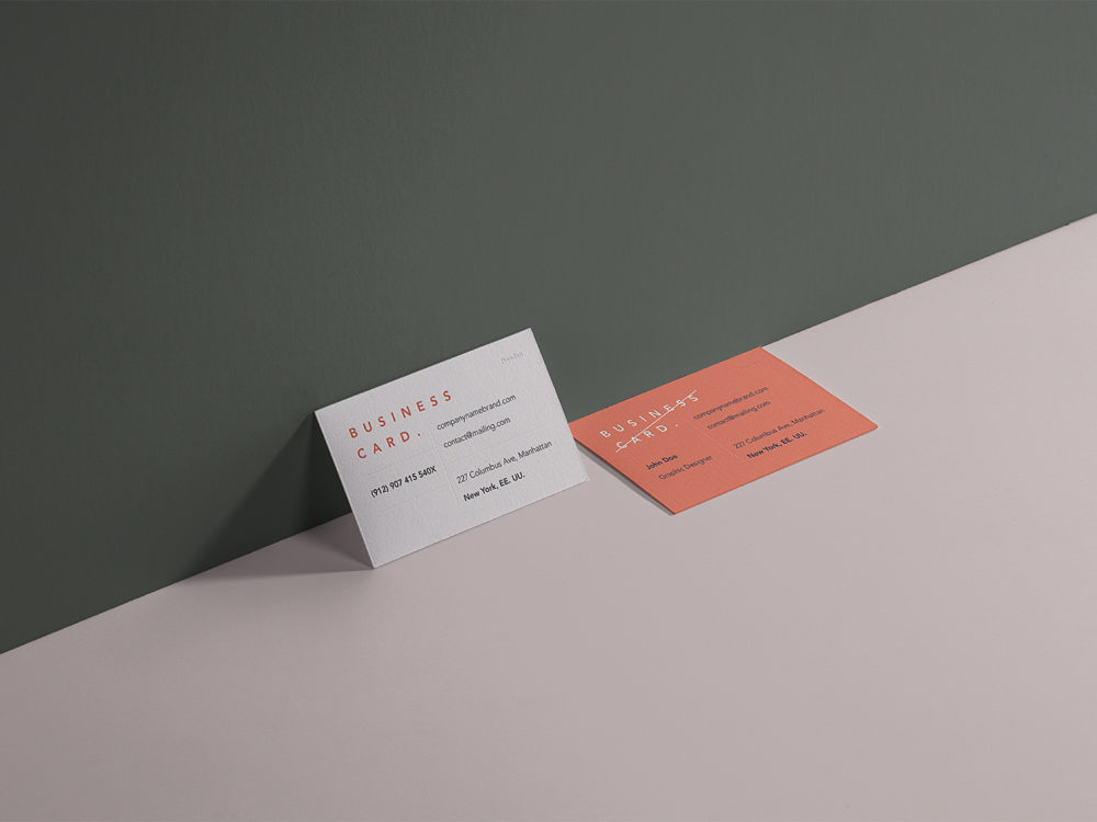 Business card mockup & Branding mockup free