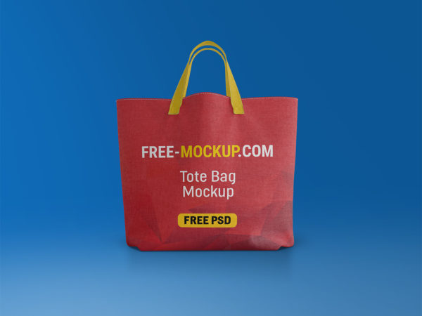 Canvas Tote Bag Mockup Free