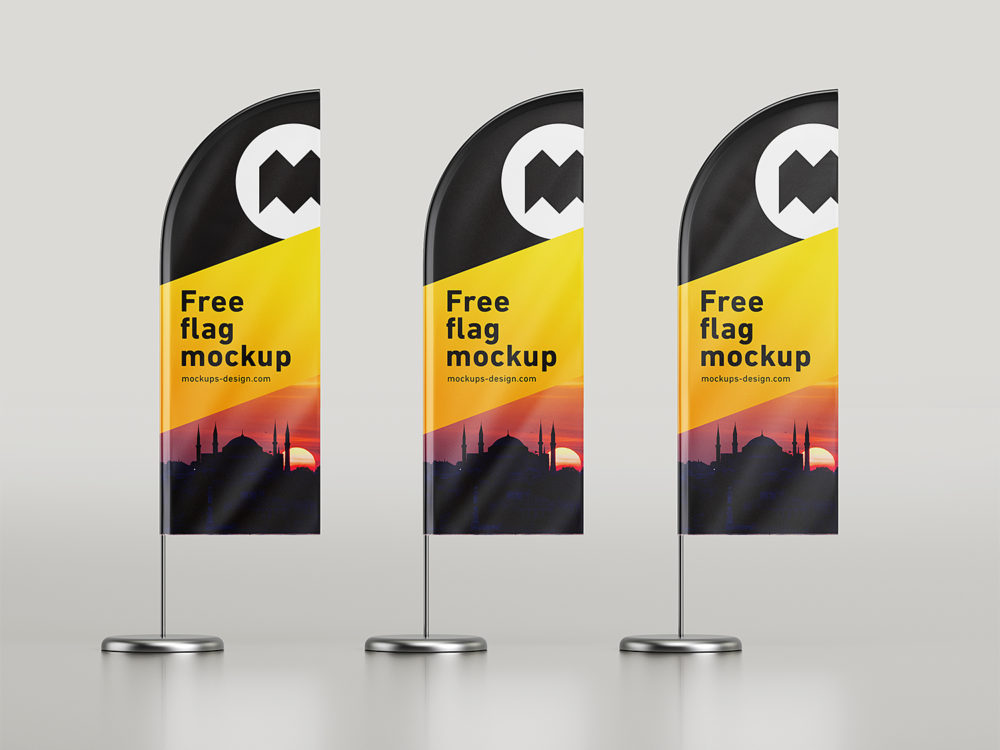 Feather Flag Mockup Free