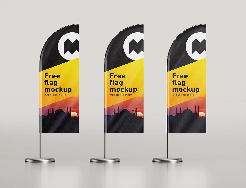 Flags Mockups | Free Mockup