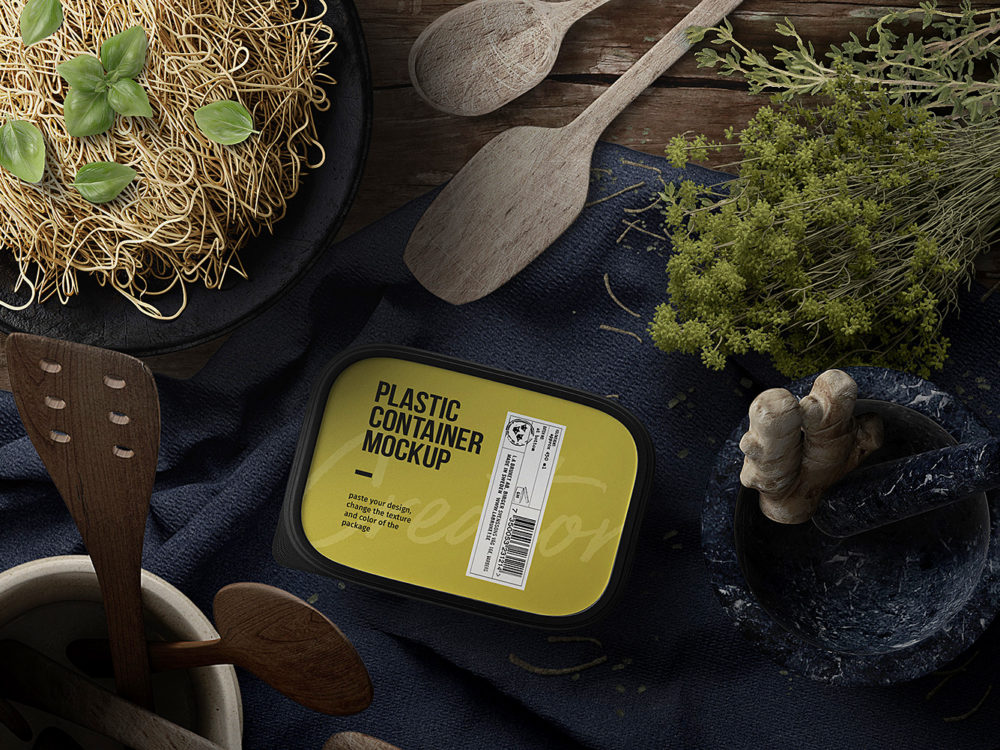 Food and Pack Free Scene PSD