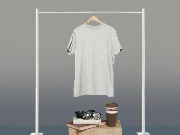 Free Grey Hanging T-Shirt Mockup