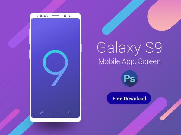 Galaxy S9 Mobile App Screen Free Mockup