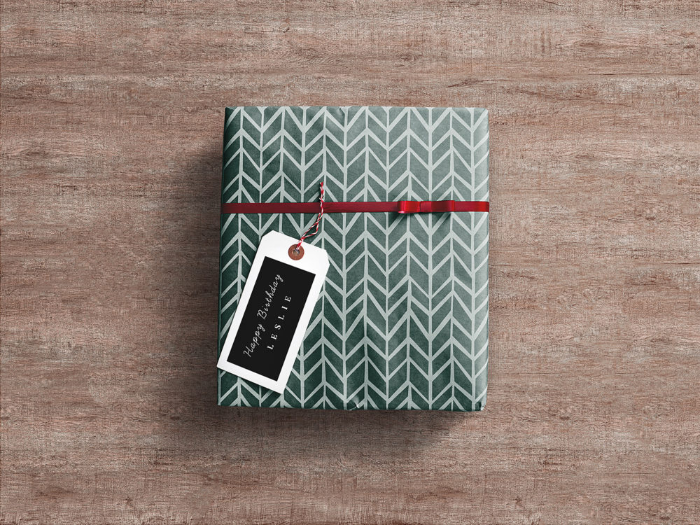 Gift Wrap Box Mockup Free. Gift packaging