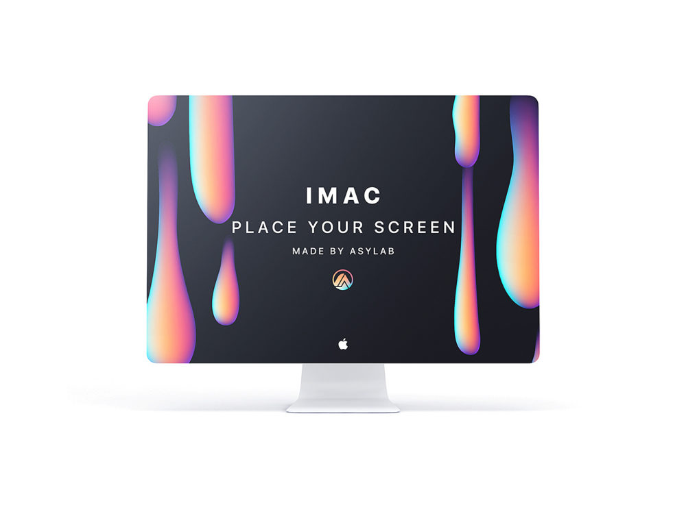 Modern iMac Customizable Mockup