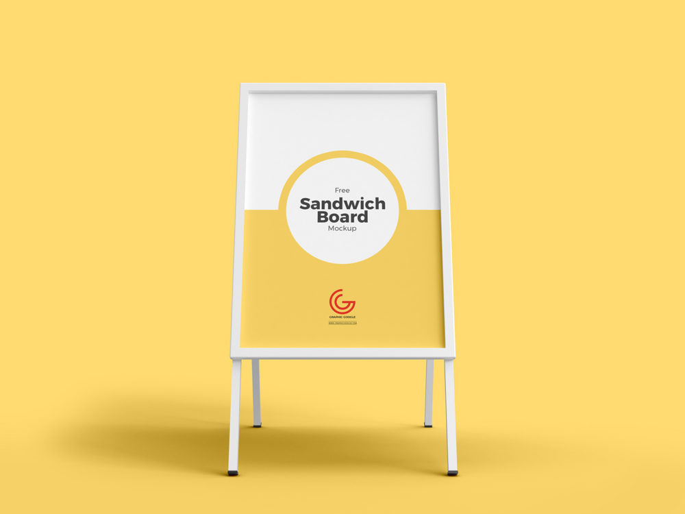 Outdoor Advertisement Sandwich Board Mockup