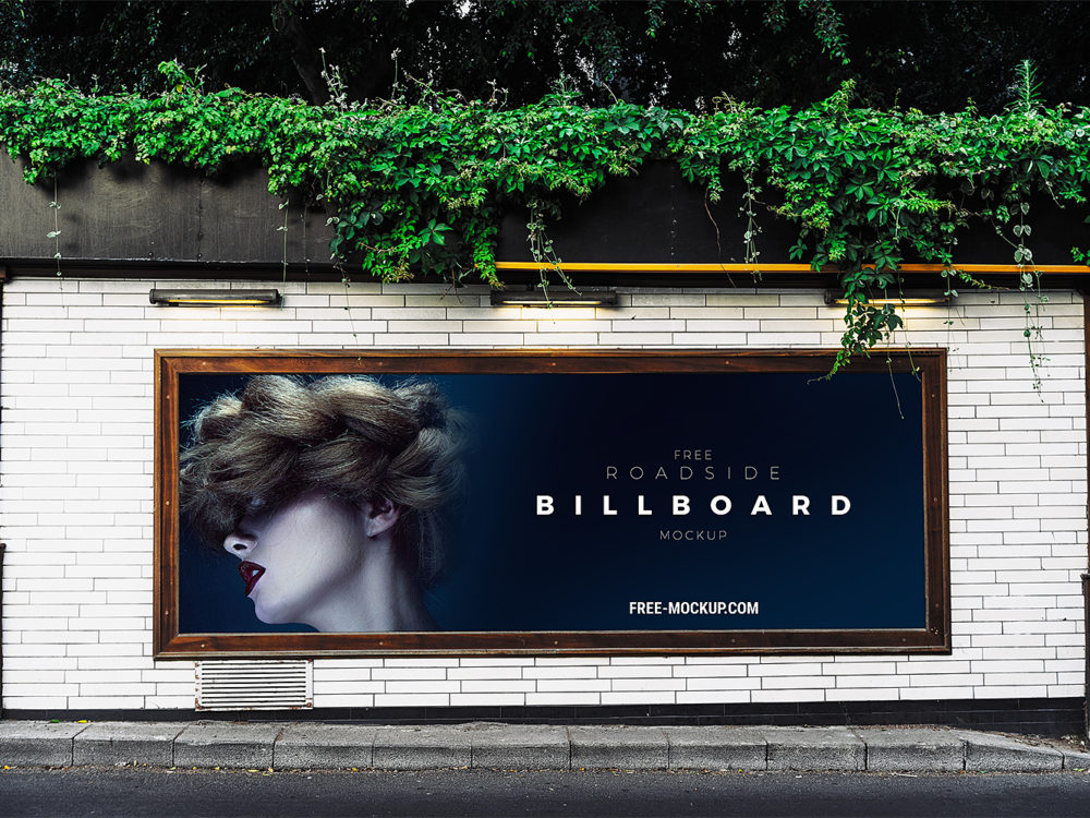 Roadside Advertisement Billboard Mockup