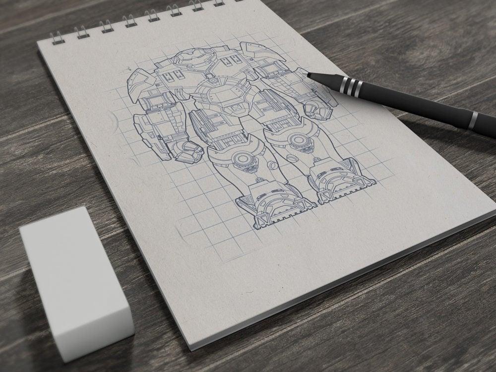 Sketchbook Mockup Free