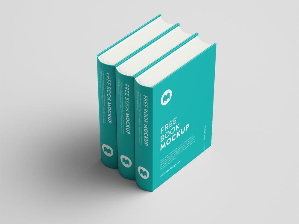 Thick Book Mockup Free