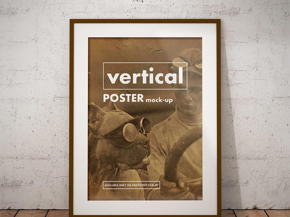 Vintage Posters Frame Mockup Free