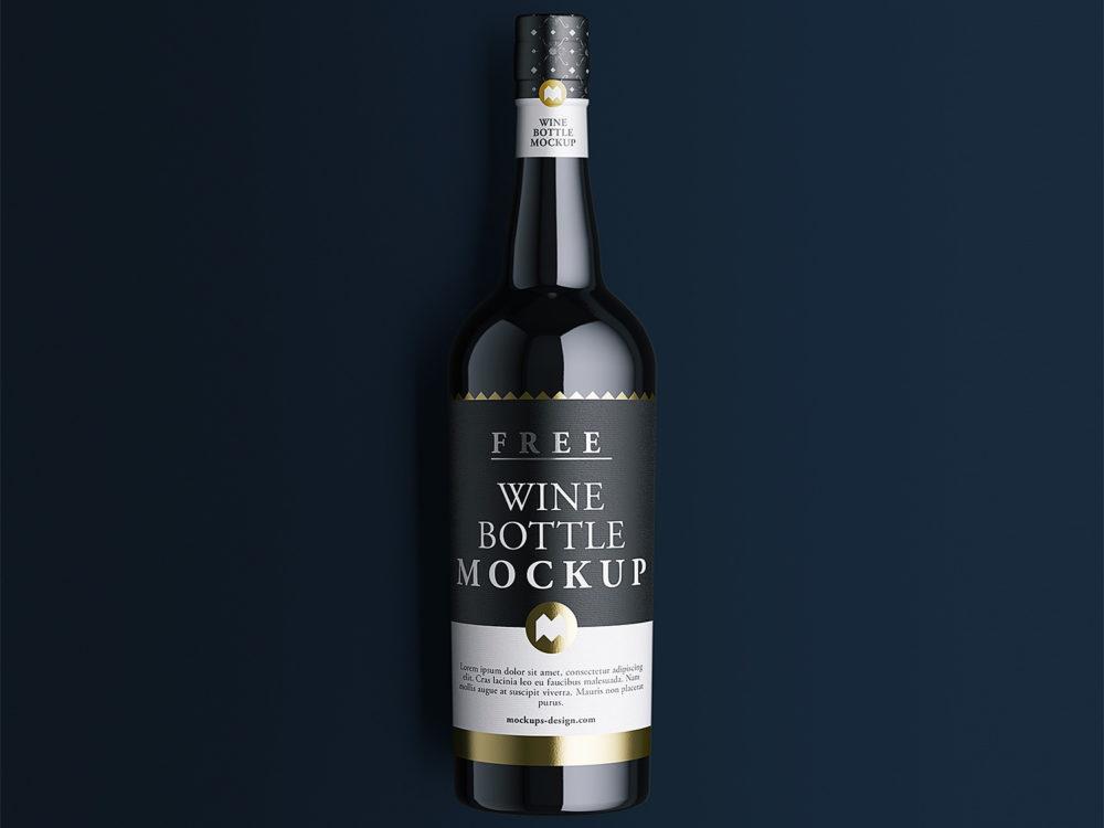 Wine Bottle Mockup Free