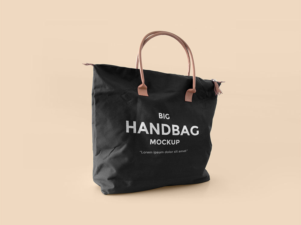 Big Handbag Mockup Free