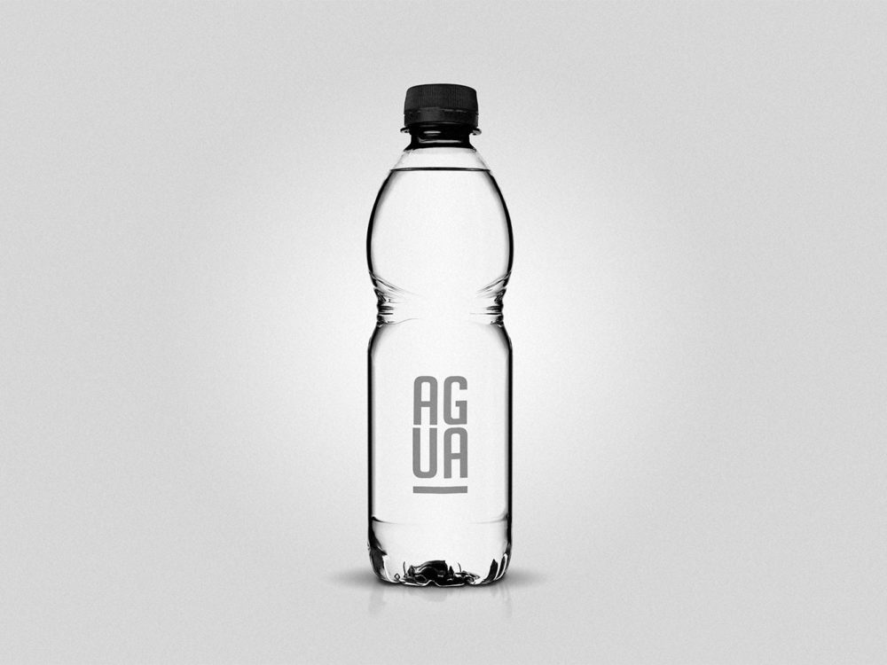 Clear Plastic Bottle Mockup