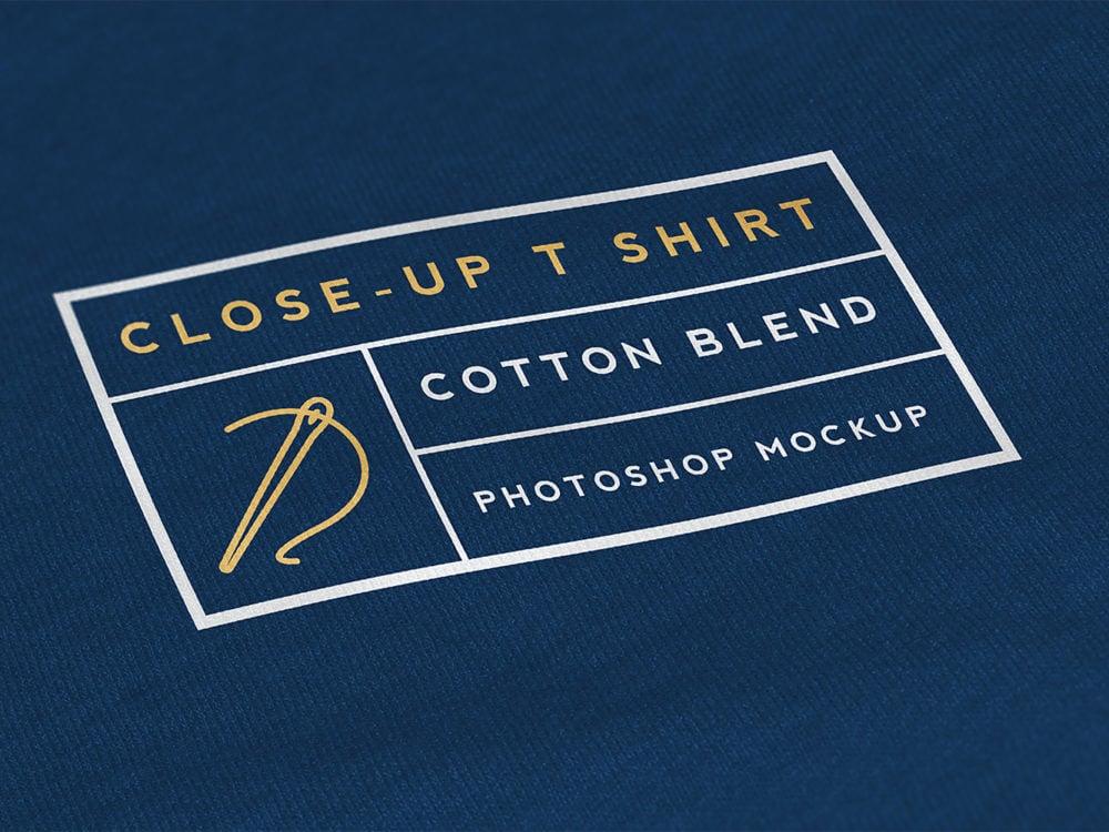 Close-Up T-Shirt Mockup