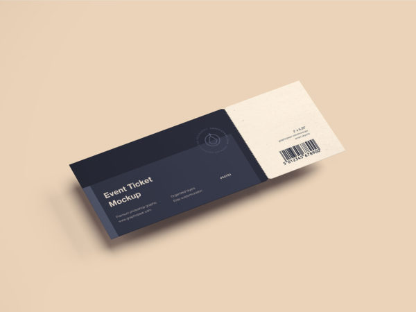 Event ticket mockup free