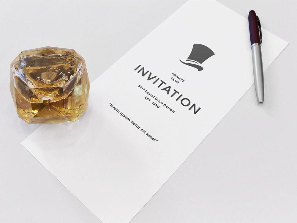 Invitation Mockup Free PSD