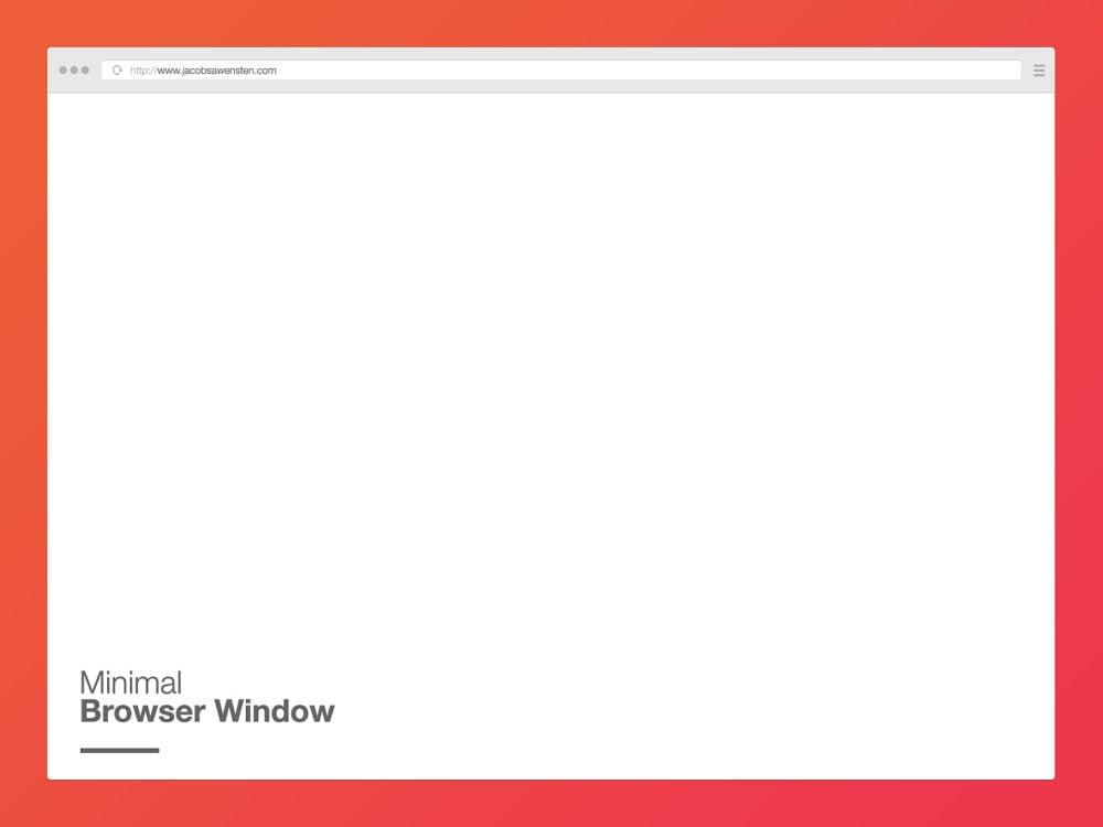 Minimal Browser Mockup PSD