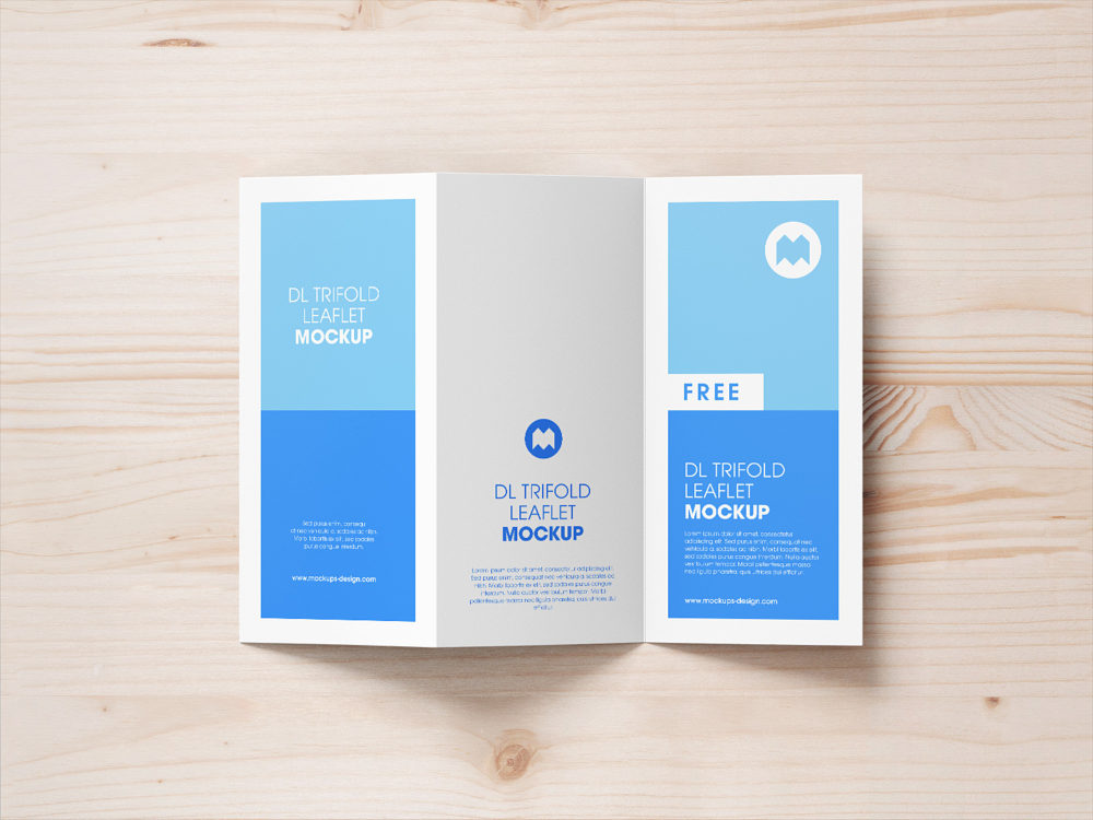 Trifold Leaflet Mockup Free