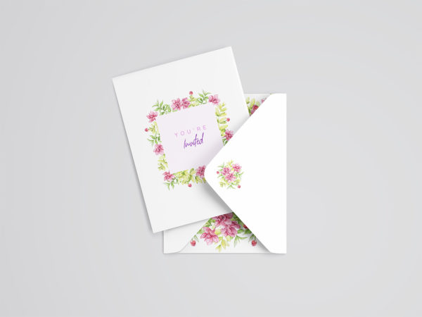 Wedding Card Mockup