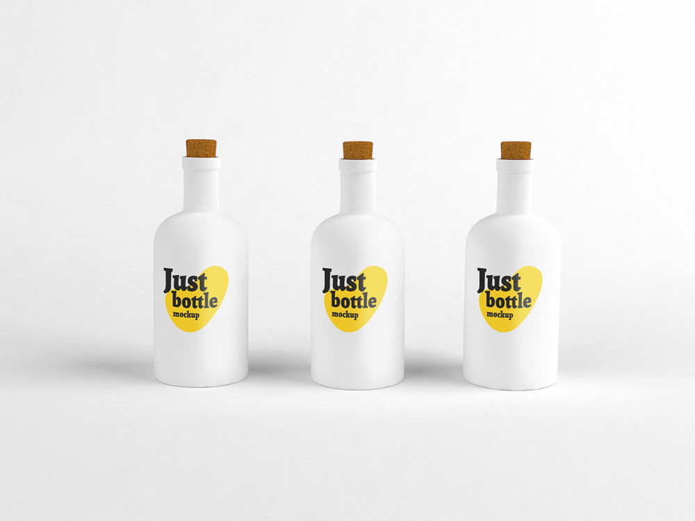 White Matte Bottle Mockup