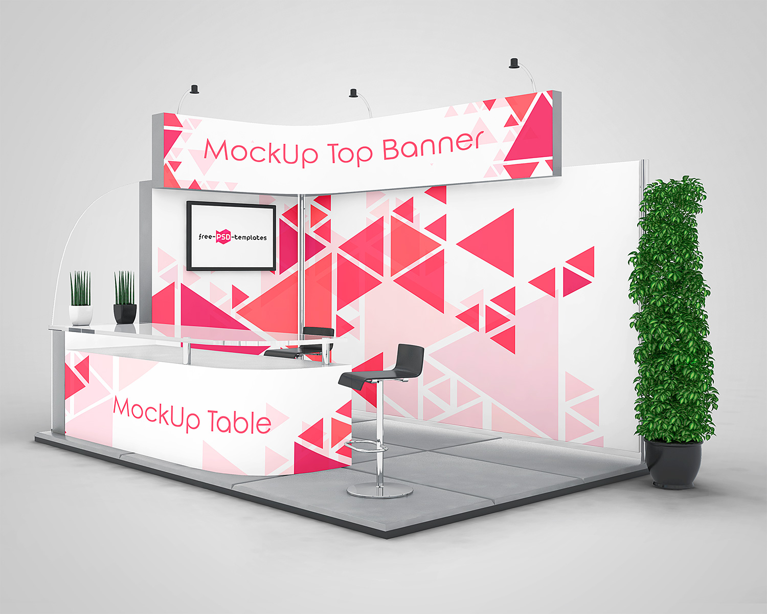 Exhibition Stand Mockup Free Download : Exhibition stand mock ups free in psd mockup