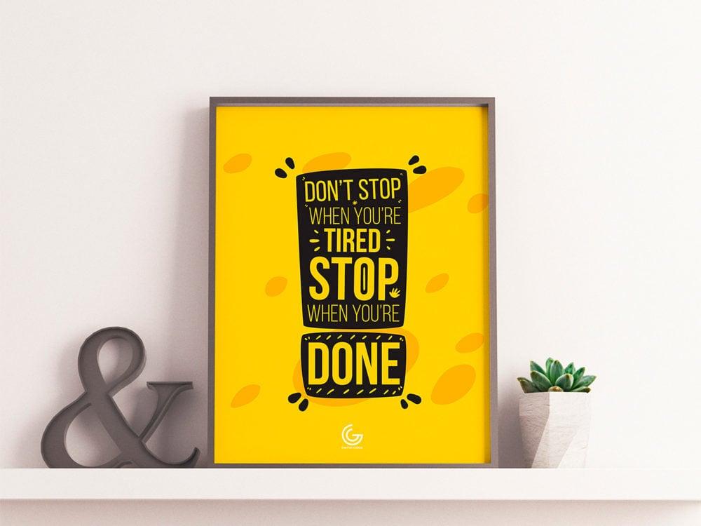 Brand Poster Frame Mockup Free