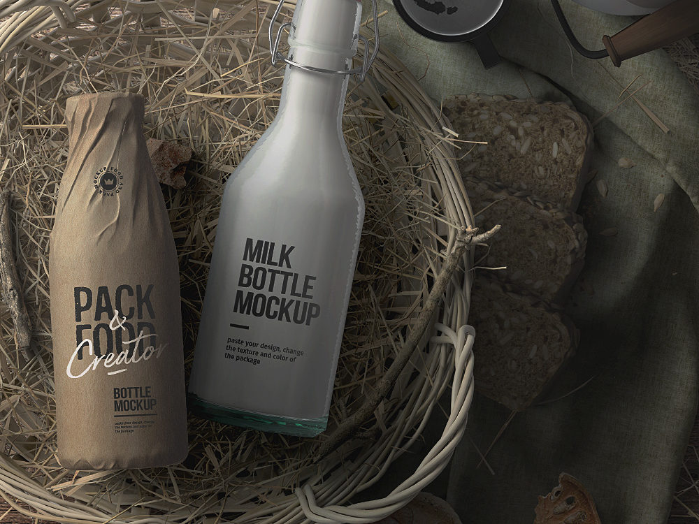 Farmer Food Packaging Mockup Free